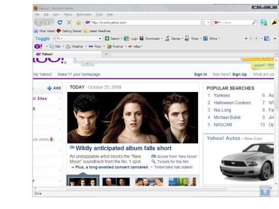 printscreeened my homepage